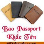 Muốn mua bao da hộ chiếu khắc tên có khó không? – Bài 91