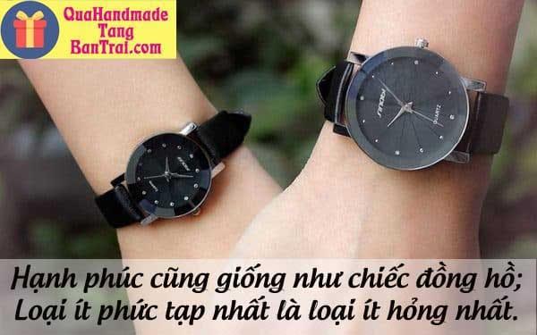 Tặng đồng hồ cho bạn trai có ý nghĩa gì